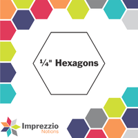 "¼"" Hexagons"