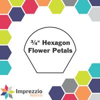"¾"" Hexagon Flower Petals"