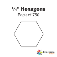 "¼"" Hexagon Papers - Pack of 750"