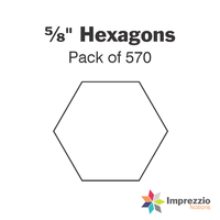 "⅝"" Hexagon Papers - Pack of 570"