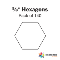 "⅝"" Hexagon Papers - Pack of 140"
