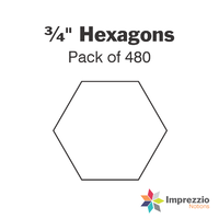 "¾"" Hexagon Papers - Pack of 480"