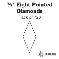 "⅞"" Eight Pointed Diamond Papers - Pack of 720"