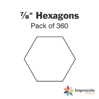 "⅞"" Hexagon Papers - Pack of 360"