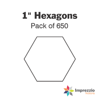 "1"" Hexagon Papers - Pack of 650"