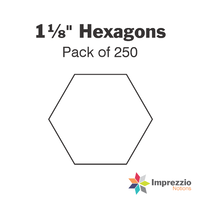 "1⅛"" Hexagon Papers - Pack of 250"