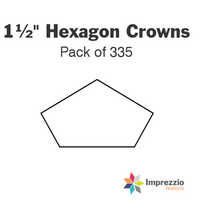 "1½"" Hexagon Crown Papers - Pack of 335"