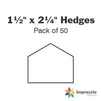 "1½"" x 2¼"" Hedge Papers - Pack of 50"