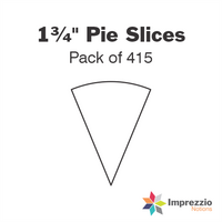"1¾"" Pie Slice Papers - Pack of 410"