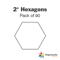 "2"" Hexagon Papers - Pack of 90"