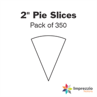 "2"" Pie Slice Papers - Pack of 350"