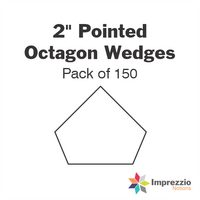 "2"" Pointed Octagon Wedge Papers - Pack of 150"