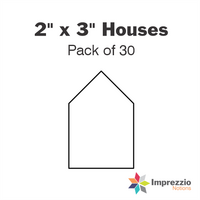 "2"" x 3"" House Papers - Pack of 30"