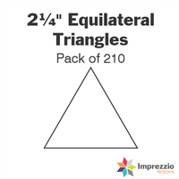 "2¼"" Equilateral Triangle Papers - Pack of 250"