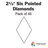 "2½"" Six Pointed Diamond Papers - Pack of 45"