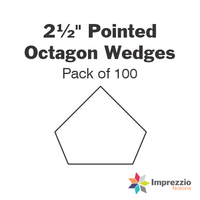 "2½"" Pointed Octagon Wedge Papers - Pack of 100"
