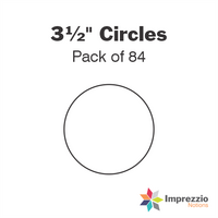 "3½"" Circle Papers - Pack of 84"