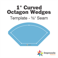 "1"" Curved Octagon Wedge Template - ⅜"" Seam"