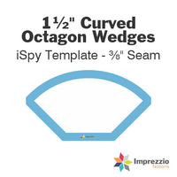 "1½"" Curved Octagon Wedge iSpy Template - ⅜"" Seam"