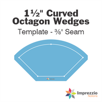 "1½"" Curved Octagon Wedge Template - ⅜"" Seam"