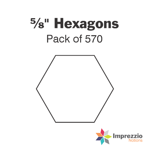 "⅝"" Hexagon Papers - Pack of 560"
